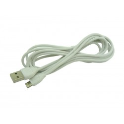 Kabel PC 2w1 Micro USB iPh 5S 6S 2M REMAX LESU bia