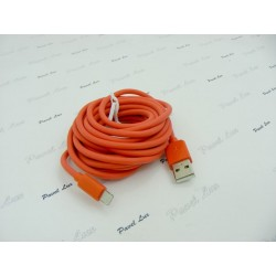 Kabel PC iPh 5 iPad 4 iPad Mini 8-PIN 3 metry czer