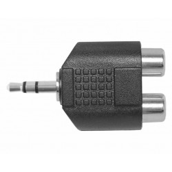 Adapter audio jack 3.5mm - 2x gniazda RCA AD12