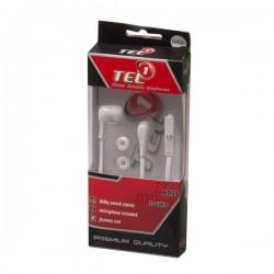 Słuchawki 3,5mm TEL1 PRESTIGE HQ białe