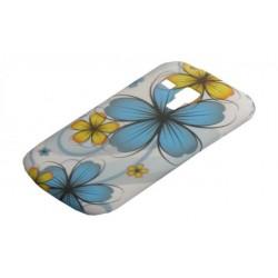 Design Case Sam S7560 S7562 Trend turkusowy kwiat