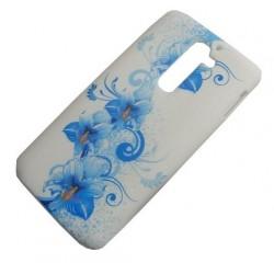 Design Case LG G2 niebieski kwiat