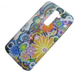 Design Case LG G2 kwiaty mix