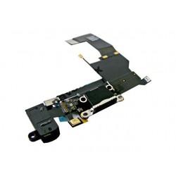 Flex iPhone 5S gniazdo ładowania + HF + mik czarna