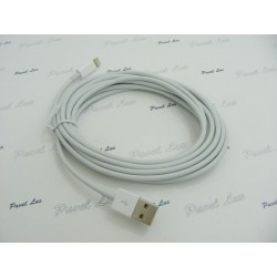 Kabel PC iPh 5 iPad 4 iPad Mini 8-PIN 3 metry biał