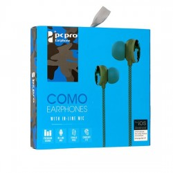 Słuchawki 3,5mm HQ Como M8 niebieskie