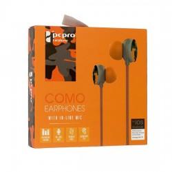 Słuchawki 3,5mm HQ Como M8 pomarańczowe