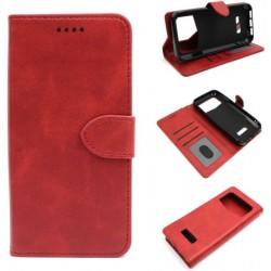 Smart Leather do Oukitel K12 czerwony