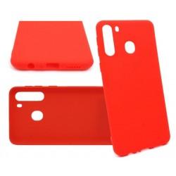 Jelly Case do Samsung A21 A215 czerwony MATT