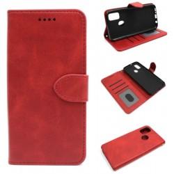 Smart Leather do Alcatel 1S 2020 / 3L 2020 czerwon