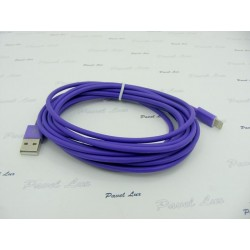 Kabel PC iPh 5 iPad 4 iPad Mini 8-PIN 3 metry fiol