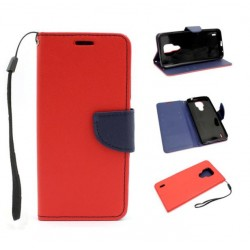Fancy Diary do Motorola Moto E7 XT2052 czerwony