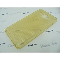 Jelly Case GLITTER Sam A5 A500 złoty