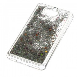 Liquid / Water Case Huawei Y5 / Y6 2017 srebrny