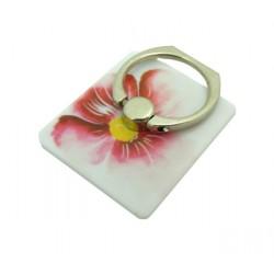 Uchwyt na telefon z podstawką ring kwiat różowy