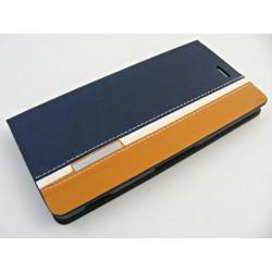 Wallet Mute Son Xperia Z3 D6603 szaro-brązowy