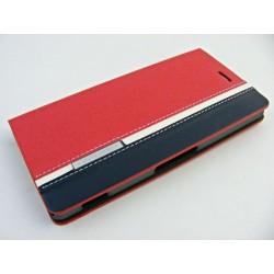 Wallet Mute Son Xperia Z3 D6603 czerwono-niebieski